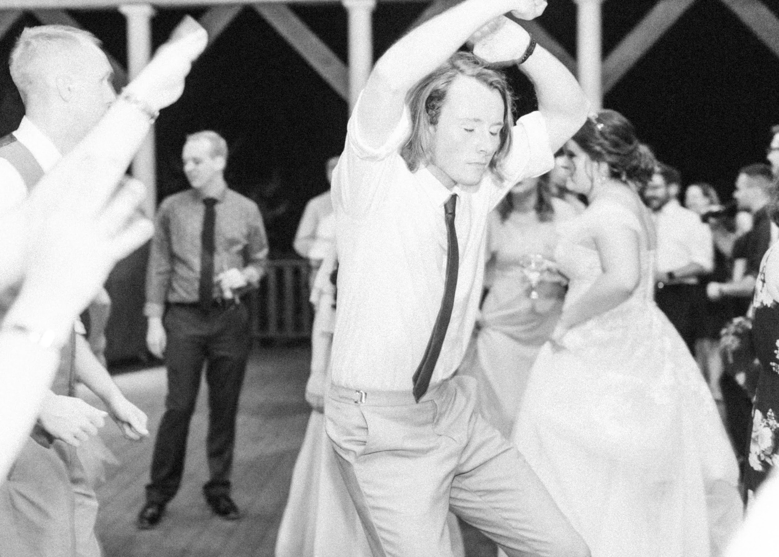 Gus dancing at Mike's wedding