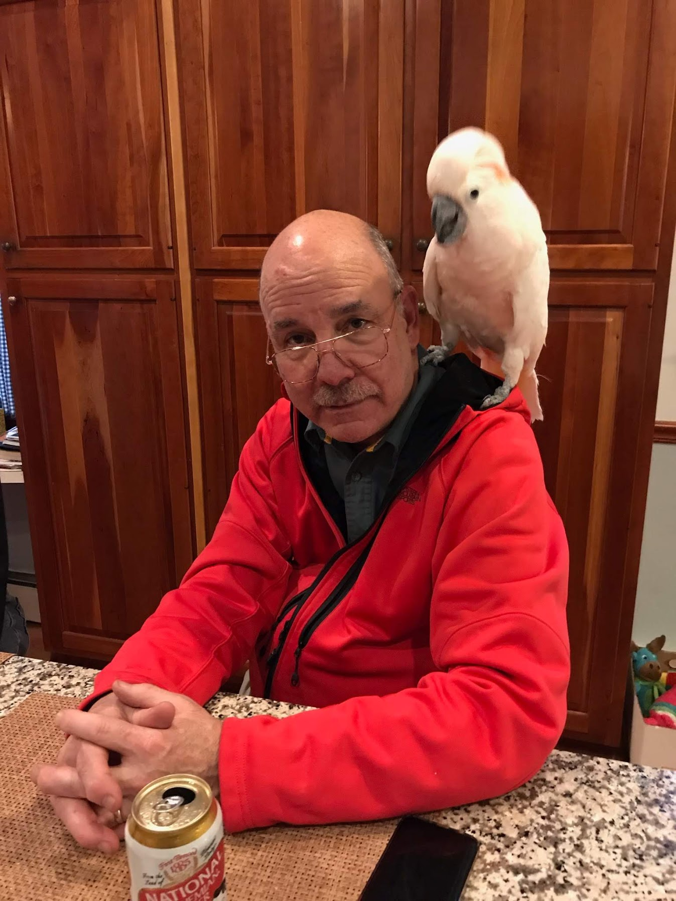 My Dad and a bird